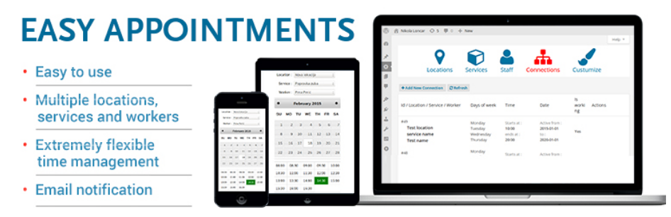 easy appointment - Calendar Booking Wordpress Plugin
