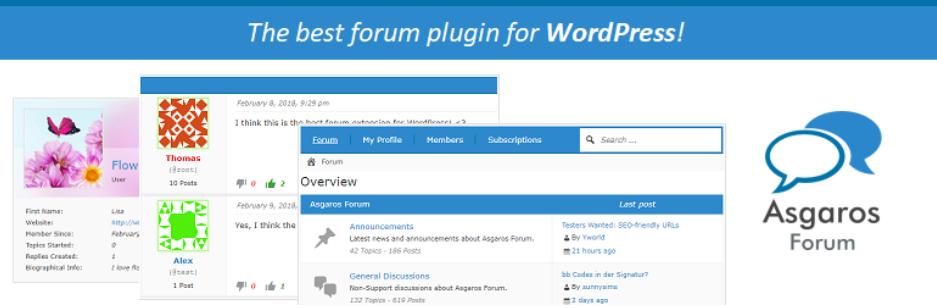 Asgaros Forum - Best Forum plugin for Wordpress