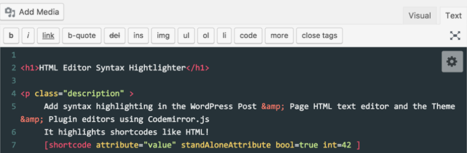 HTML Editor Syntax Highlighter _ WordPress.org
