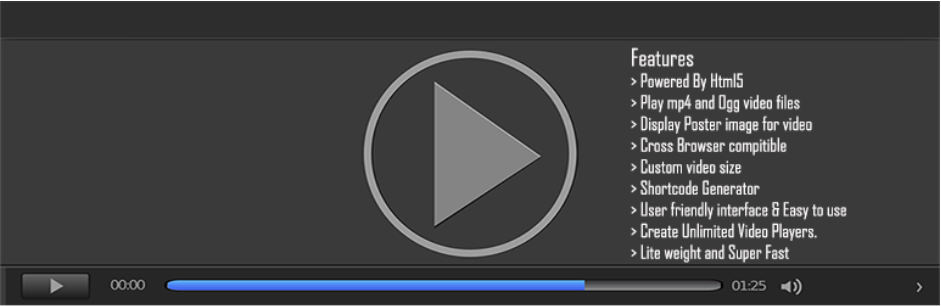 Html5 Video Player – self hosted mp4, ogg video player _ WordPress.org