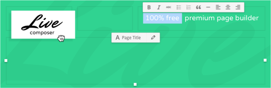 Page Builder Live Composer, drag and drop website builder (visual front end site editor)