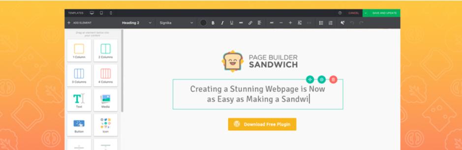Page Builder Sandwich – Front-End Page Builder