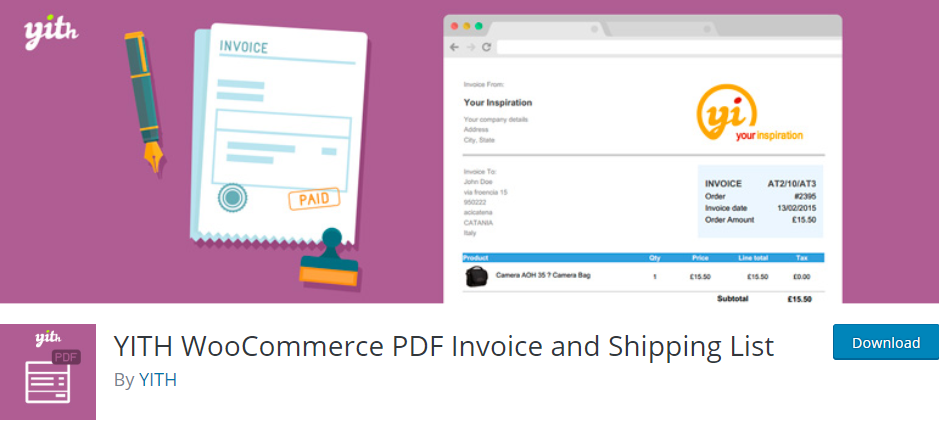 WordPress Invoice plugin