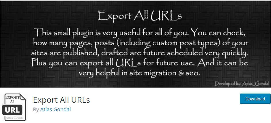 WordPress Export plugin