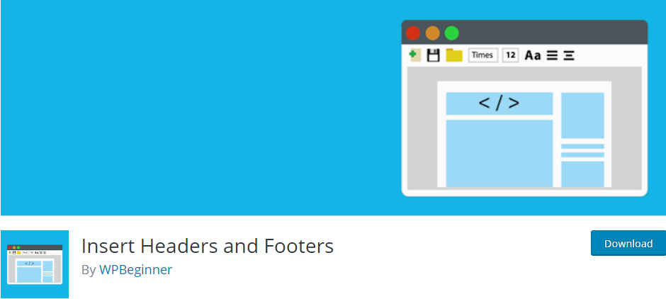 WordPress Header and Footer plugin