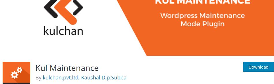 Kul Maintenance _ WordPress.org