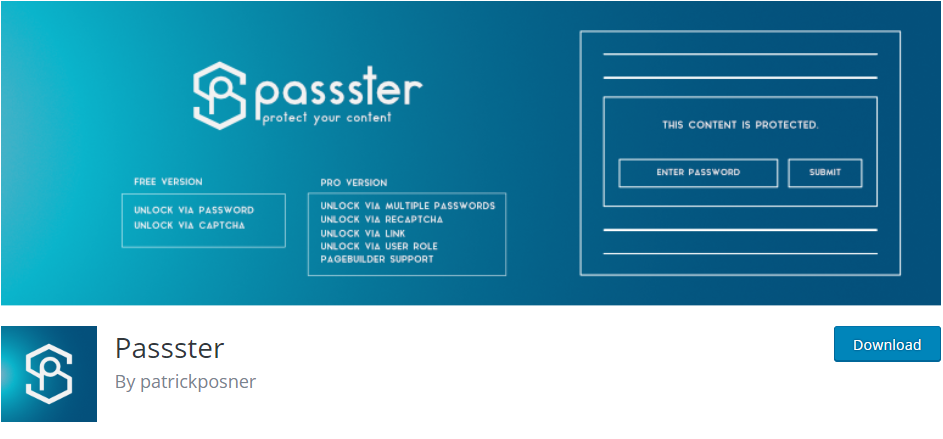 WordPress Password plugin
