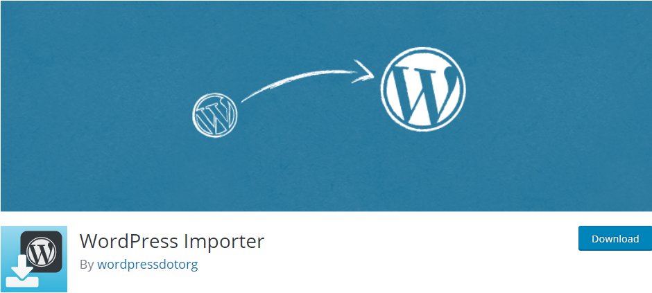 WordPress Importer pluign