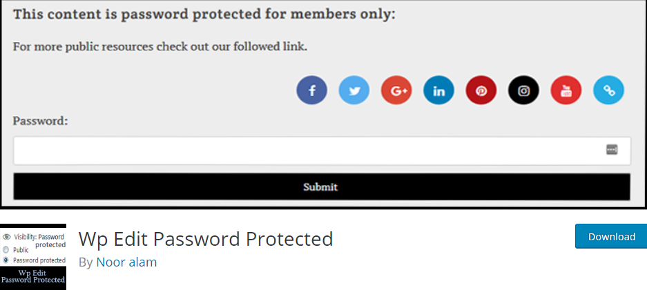 WordPress Password plugin