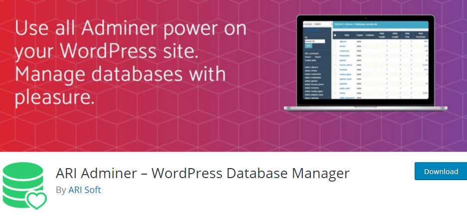 WordPress Database plugin