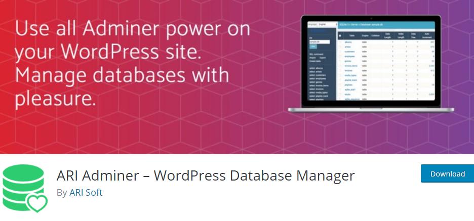 WordPress Database plugin