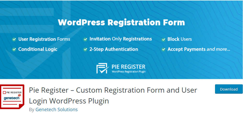 WordPress Registration plugin
