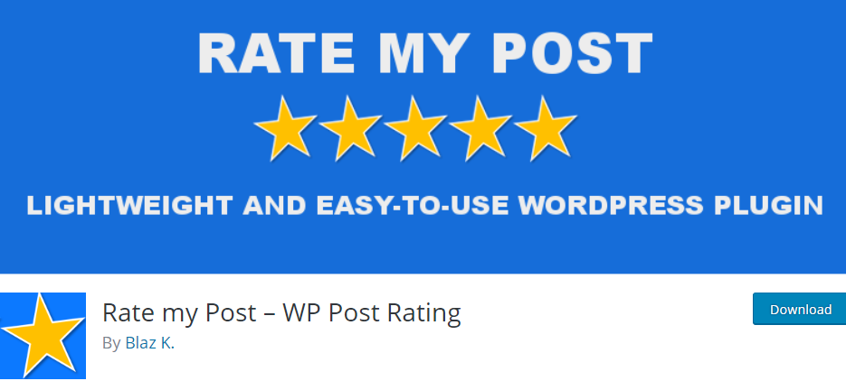 WordPress Rating pluign