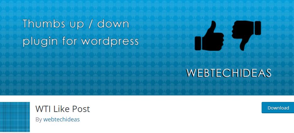 WordPress Like plugin