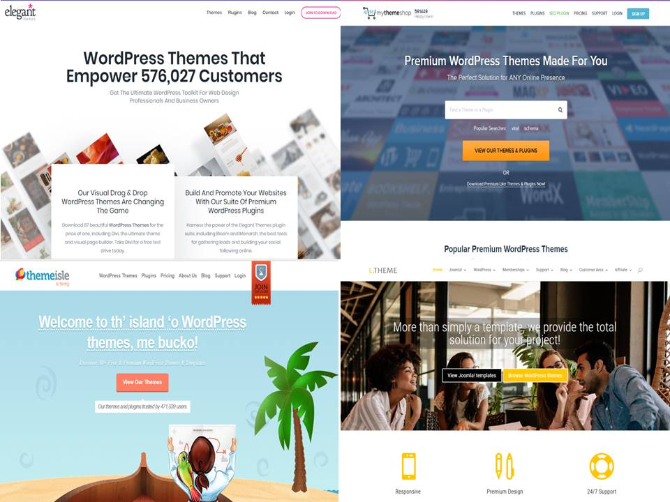 Top 9 Best WordPress Themes Providers 2021