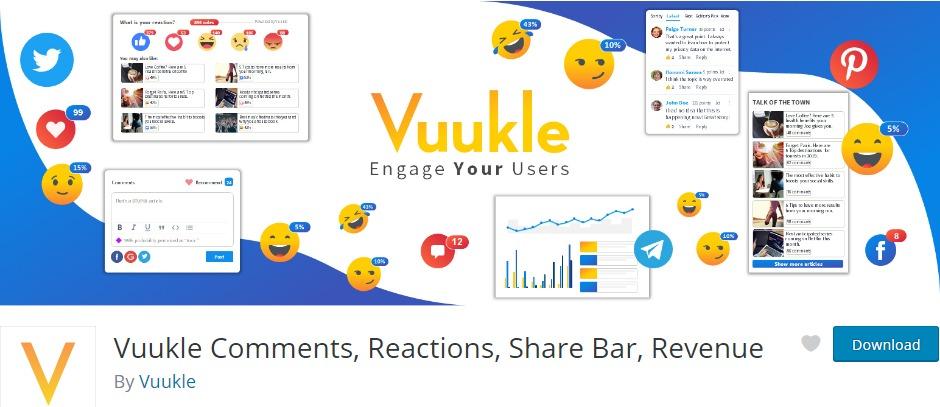 Vuukle Comments Reactions Share Bar Revenue – WordPress plugin WordPress org