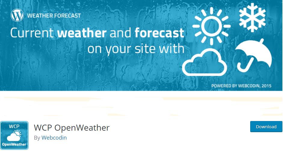 wordpress weather plugin