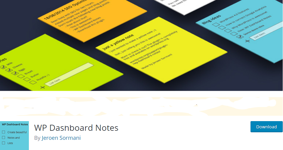 wordpress note taking plugin