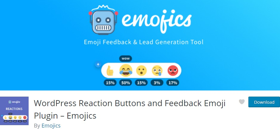 WordPress Reaction Buttons and Feedback Emoji Plugin – Emojics – WordPress plugin WordPress org