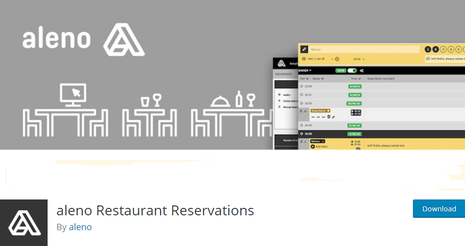 WordPess Table Reservation plugin