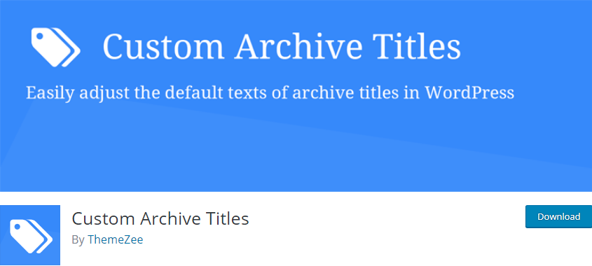 WordPress Archive plugin