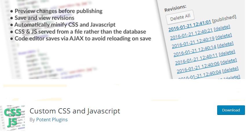 WordPress Javascript plugin