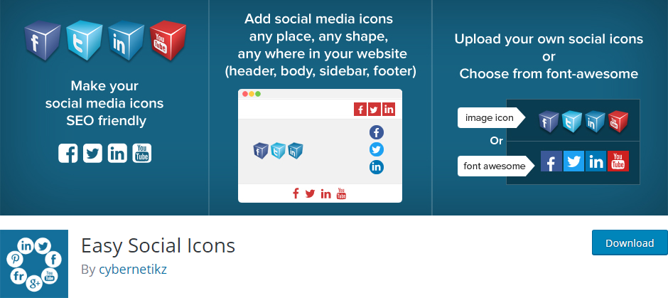 Top 8 Beautiful Social Media Icons WordPress plugin in 2019