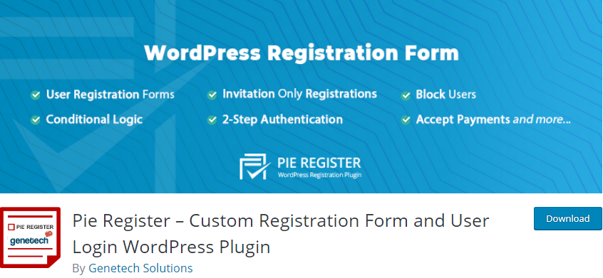 WordPress User Registration plugin