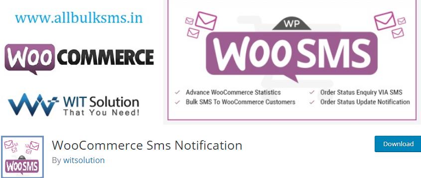 WordPress SMS notification plugin