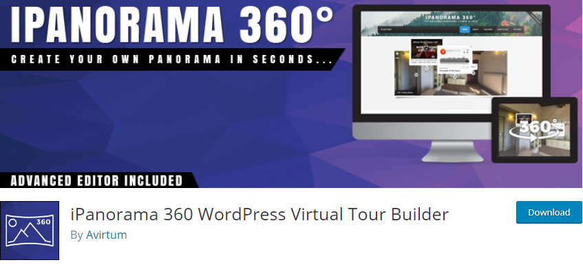 WordPress Panorama plugin