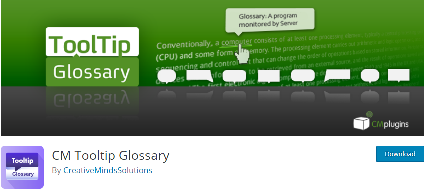 WordPress Glossary plugin