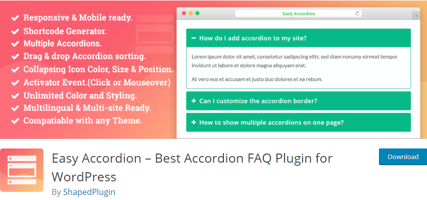 Nextend AccordionWordPress Accordion plugin Menu