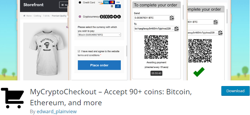 WordPress Bitcoin Payment plugin