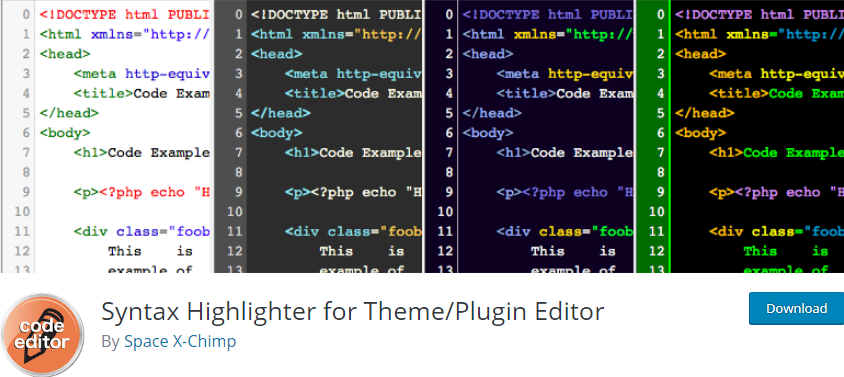 WordPress Syntax Highlighter plugin