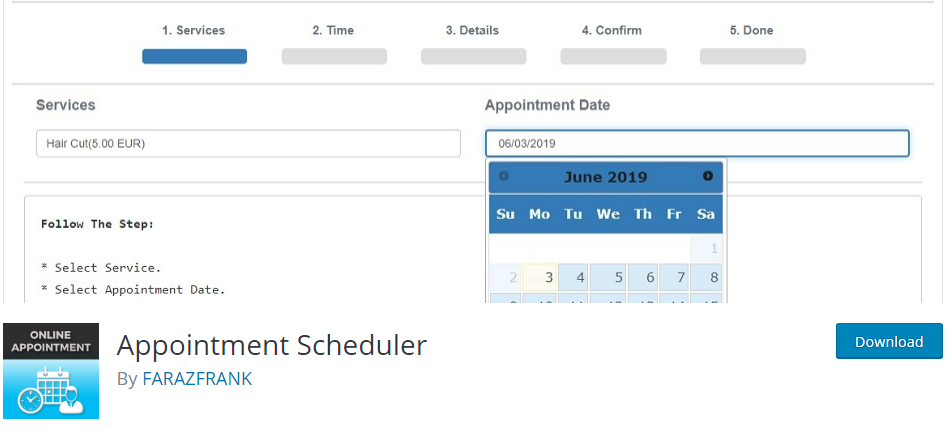 WordPress Schedule plugin