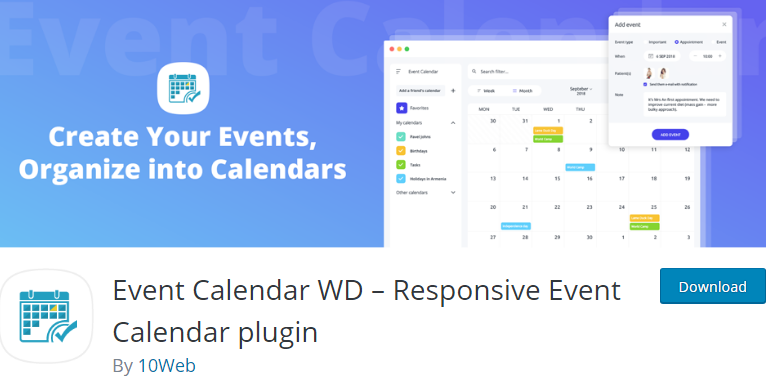 WordPress Free Event plugin