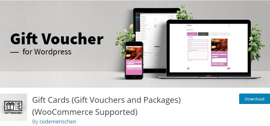 WordPress Gift Cards plugin
