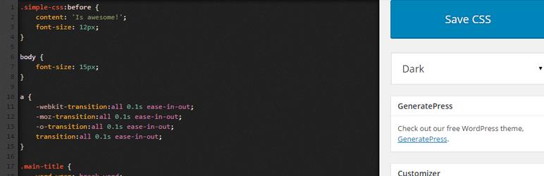 Simple CSS – WordPress CSS Plugin