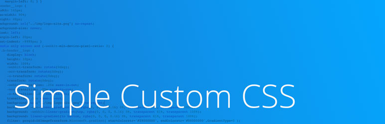 Simple Custom CSS - Basic WordPress CSS Plugin