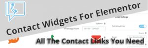 Contact Widgets For Elementor all the contact links