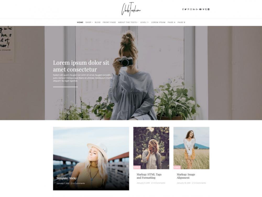 fashion wordpress themes 1