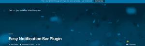 Top 10 Must-have WordPress Notification Bar Plugin In 2021