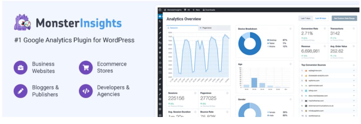 Google Analytics Dashboard Plugin for WordPress by MonsterInsights