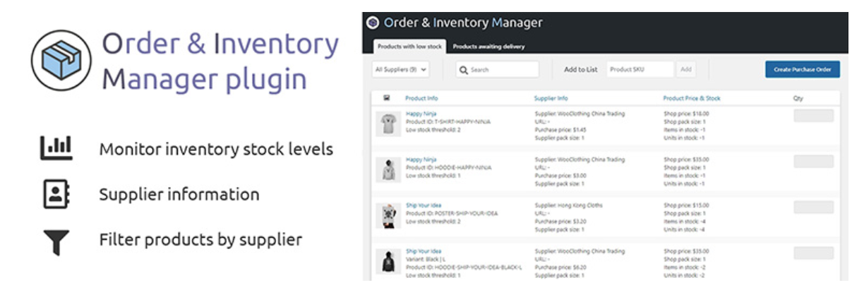 Order and Inventory Manager for WooCommerce