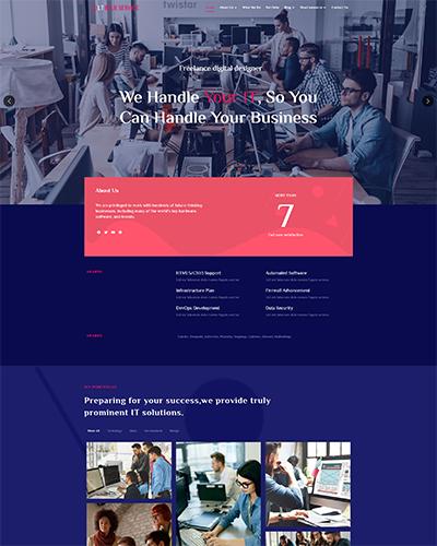 LT Blue Service WordPress theme