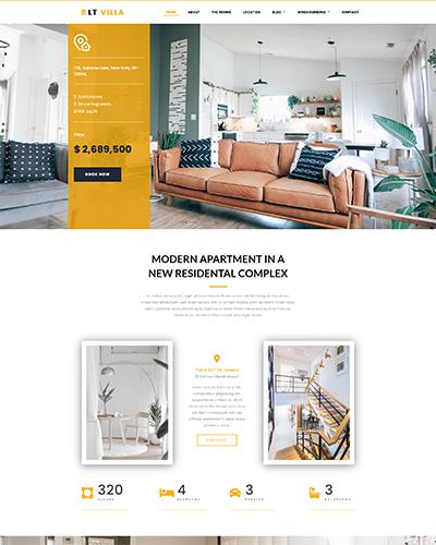 LT Villa WordPress theme