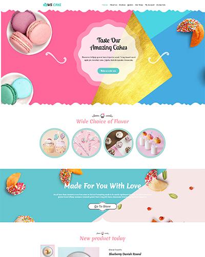 WS Cake WordPress theme