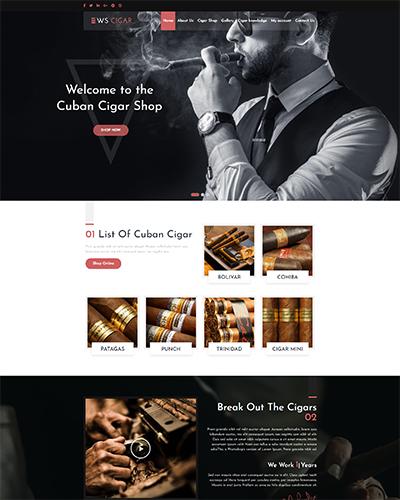 WS Cigar WordPress theme