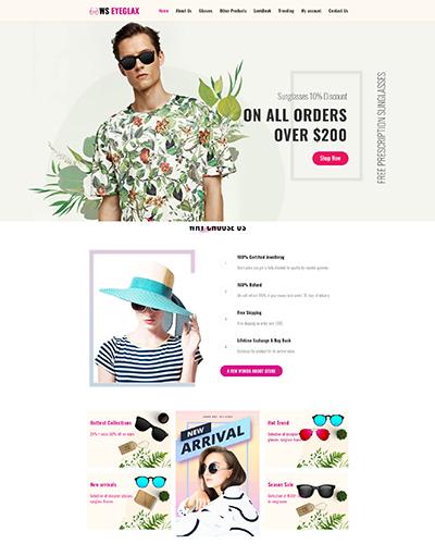 WS Eyeglax Free WordPress theme