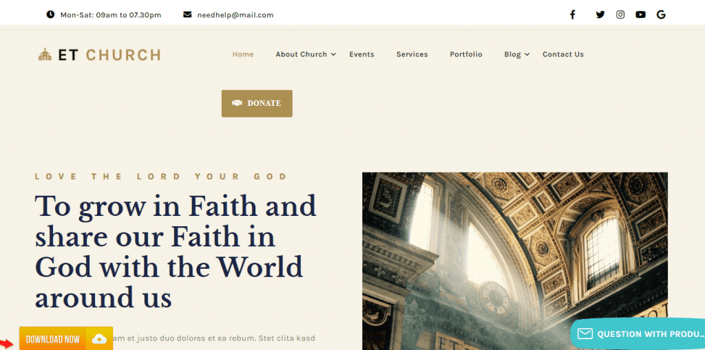 Collection of 20+ Church WordPress Themes In 2021